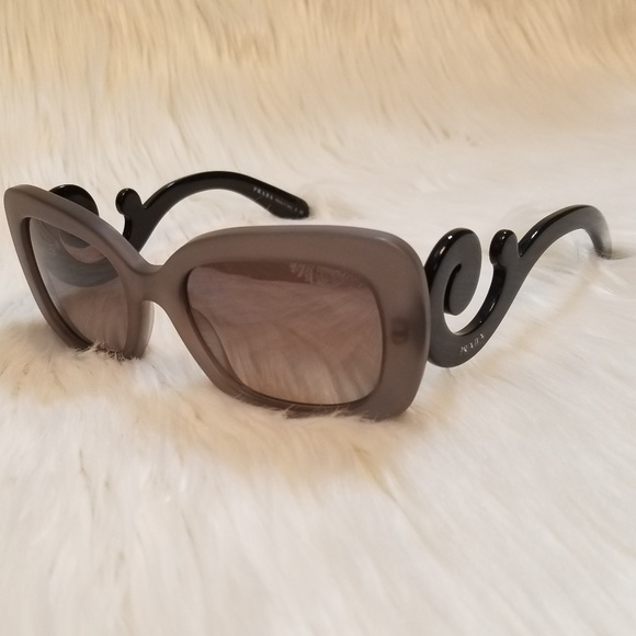 332abdb9fe Prada Sunglasses Mirrored Gray lens Flowery arms